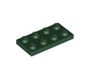LEGO Dark Green Plate 2 x 4 (3020)