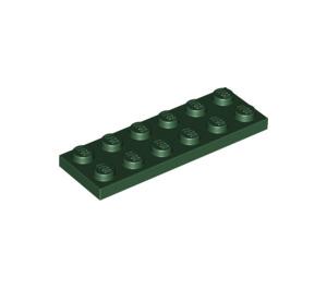 LEGO Dark Green Plate 2 x 6 (3795)
