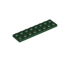 LEGO Dark Green Plate 2 x 8 (3034)
