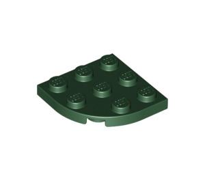 LEGO Dark Green Plate 3 x 3 Corner Round (30357)