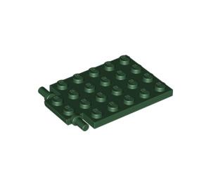 LEGO Dark Green Plate 4 x 5 Trap Door Flat Hinge (92099)