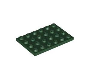 LEGO Dark Green Plate 4 x 6 (3032)