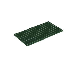 LEGO Dark Green Plate 8 x 16 (92438)
