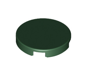 LEGO Dark Green Round Tile 2 x 2 with Bottom Stud Holder (14769)