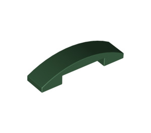 LEGO Dark Green Slope 1 x 4 Curved Double (93273)