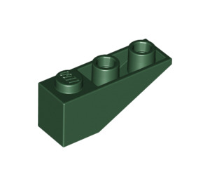 LEGO Dark Green Slope 25° (33) 3 x 1 Inverted (4287)