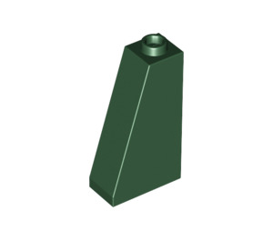 LEGO Dark Green Slope 75 2 x 1 x 3 with Hollow Stud (4460)