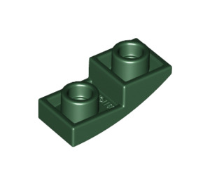 LEGO Dark Green Slope Curved Inverted 1 x 2 x 0.6 (24201)