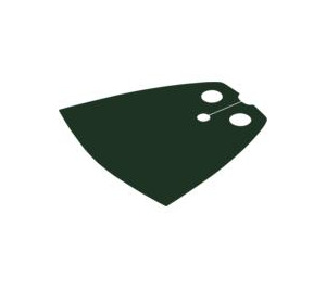 LEGO Dark Green Standard Cape with Regular Starched Texture (20458 / 50231)