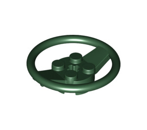 LEGO Dark Green Steering Wheel (67811)