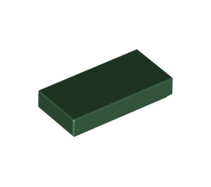 LEGO Dark Green Tile 1 x 2 with Groove (3069)