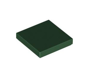 LEGO Dark Green Tile 2 x 2 with Groove (3068)