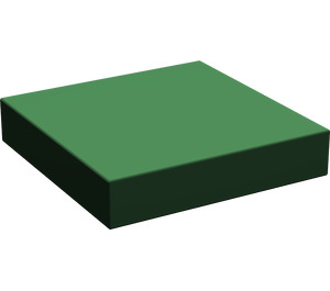 LEGO Dark Green Tile 2 x 2 without Groove (3068)