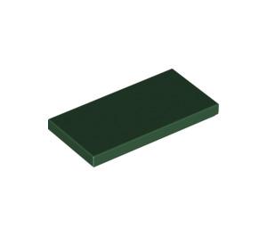 LEGO Dark Green Tile 2 x 4 (87079)