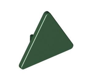 LEGO Dark Green Triangular Sign with Clip (30259)
