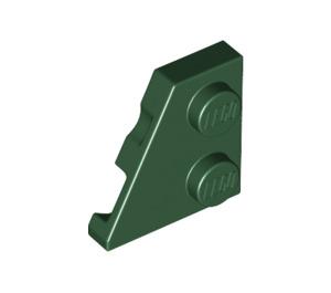 LEGO Dark Green Wedge Plate 2 x 2 (27°) Left (24299)