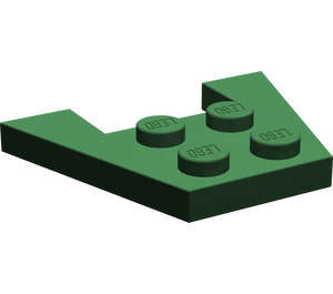 LEGO Dark Green Wedge Plate 3 x 4 without Stud Notches