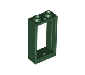 LEGO Dark Green Window 1 x 2 x 3 without Sill (60593)