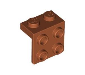 LEGO Dark Orange Bracket 1 x 2 - 2 x 2 (44728)