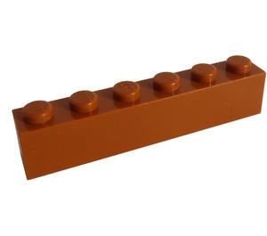 LEGO Dark Orange Brick 1 x 6 (3009)