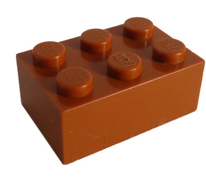 LEGO Dark Orange Brick 2 x 3 (3002)