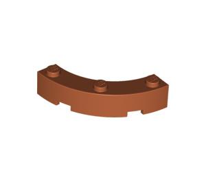 LEGO Dark Orange Brick Corner 4 x 4 (Wide with 3 Studs) (48092)