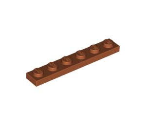 LEGO Dark Orange Plate 1 x 6 (3666)