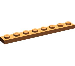 LEGO Dark Orange Plate 1 x 8