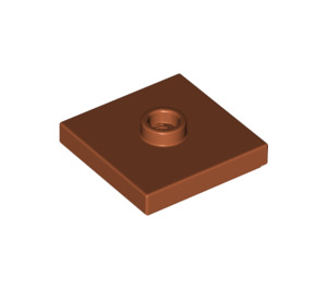 LEGO Dark Orange Plate 2 x 2 with Groove and 1 Center Stud (23893)