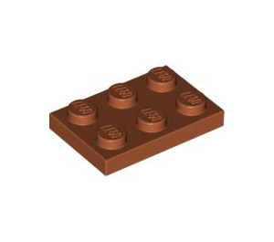 LEGO Dark Orange Plate 2 x 3 (3021)