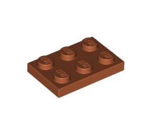 LEGO Dark Orange Plate 2 x 3 (3021)