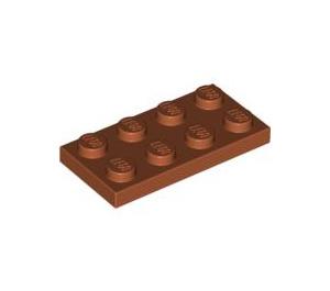 LEGO Dark Orange Plate 2 x 4 (3020)