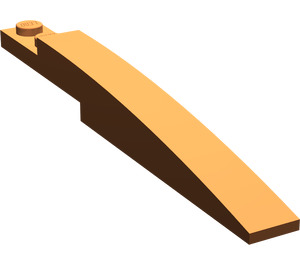 LEGO Dark Orange Slope Curved 8 x 1 with Plate 1 x 2 (13731)