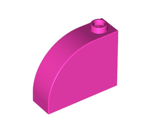 LEGO Dark Pink Brick 1 x 3 x 2 Curved Top (33243)