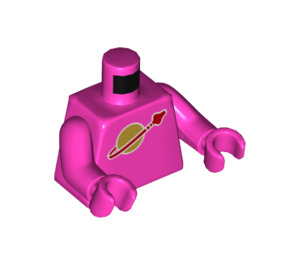 LEGO Dark Pink Lenny Minifig Torso (76382)