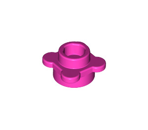 LEGO Dark Pink Plate 1 x 1 Round with Tabs (28573 / 33291)