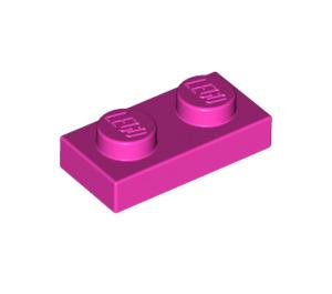 LEGO Dark Pink Plate 1 x 2 (3023)