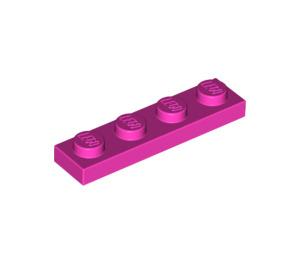 LEGO Dark Pink Plate 1 x 4 (3710)