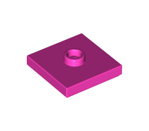 LEGO Dark Pink Plate 2 x 2 with Groove and 1 Center Stud (87580)