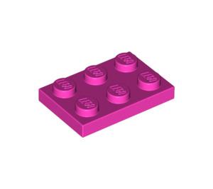 LEGO Dark Pink Plate 2 x 3 (3021)
