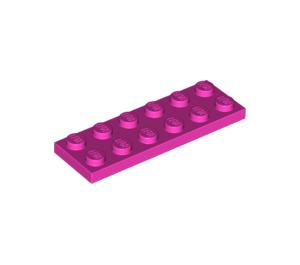 LEGO Dark Pink Plate 2 x 6 (3795)