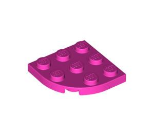 LEGO Dark Pink Plate 3 x 3 Corner Round (30357)