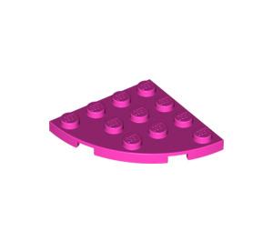 LEGO Rose foncé assiette 4 x 4 Rond Coin (30565)