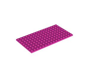 LEGO Dark Pink Plate 8 x 16 (92438)
