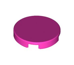 LEGO Dark Pink Round Tile 2 x 2 with Bottom Stud Holder (14769)
