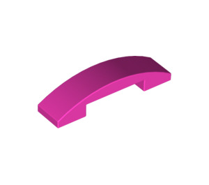 LEGO Dark Pink Slope 1 x 4 Curved Double (93273)