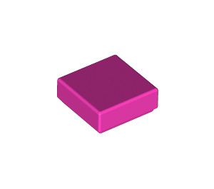 LEGO Dark Pink Tile 1 x 1 with Groove (3070)