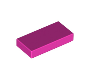 LEGO Dark Pink Tile 1 x 2 with Groove (3069)