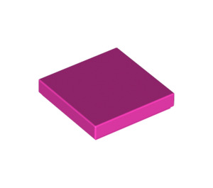 LEGO Dark Pink Tile 2 x 2 with Groove (3068)
