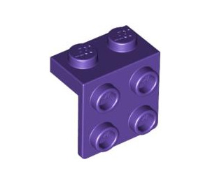 LEGO Dark Purple Bracket 1 x 2 - 2 x 2 (44728)